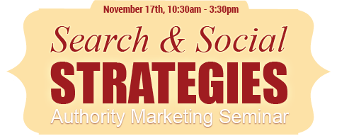 "November 6th, 2013 - ""Search & Social Double Whammy"" Integrated marketing seminar."